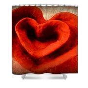 Creative Heart Ceramic Bowl Shower Curtain