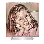 Creative Portrait Sample In Hdr Shower Curtain