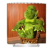 Creature From The Groovy Lagoon Shower Curtain