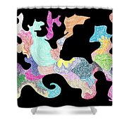 Creature Of Color Shower Curtain