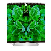 Creatures In The Green Fauna Shower Curtain