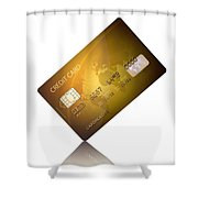 Credit Card Shower Curtain by Johan Swanepoel
