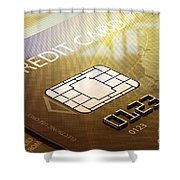 Credit Card Macro - 3d Graphic Shower Curtain