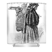 Cree Indian Squaw And Papoose Shower Curtain
