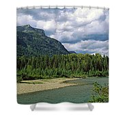 Creek Along Mountains, Mcdonald Creek Shower Curtain