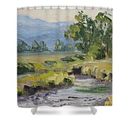 Creek At Mormon Row Shower Curtain