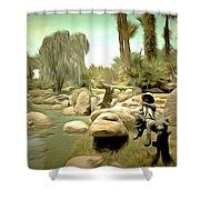 Creek At Jackalope Ranch Palm Springs Shower Curtain