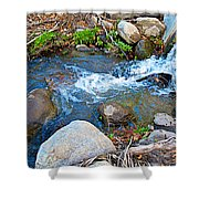 Creek Entering Andreas Canyon In Indian Canyons-ca Shower Curtain