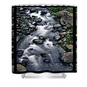 Creek Flow Polyptych Shower Curtain