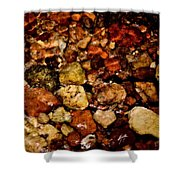 Creek Rocks Shower Curtain