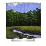 Creekside Fishing Shower Curtain