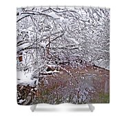 Creekside In The Snow 2 Shower Curtain