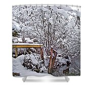 Creekside In The Snow Shower Curtain