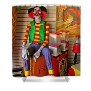 Creepy Clown Shower Curtain