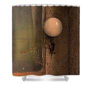 Creepy Door Knob Of Abandoned House Shower Curtain