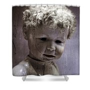 Creepy Old Doll Shower Curtain