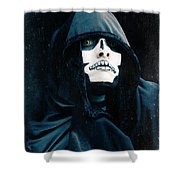 Creepy Skeleton Shower Curtain