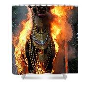 Balinese Burning Bull  Shower Curtain