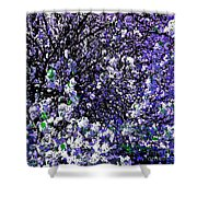 Crepe Myrtle Tree Purple Lilac Spring Shower Curtain