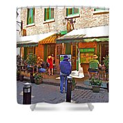 Crepes Et Fondues In Old Montreal-qc Shower Curtain
