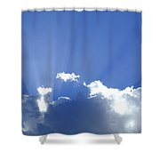 Crepuscular Rays 2am-005269 Shower Curtain