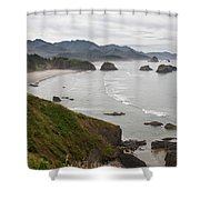 Crescent Bay At Cannon Beach Oregon Coast Shower Curtain
