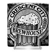 Crescent City Brewhouse - Bw Shower Curtain