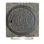 Crescent City Water Meter Shower Curtain