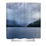 Crescent Lake Shower Curtain