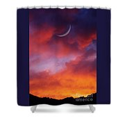 Crescent Moon In Purple Shower Curtain