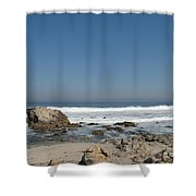Crestwaves On A California Beach Shower Curtain