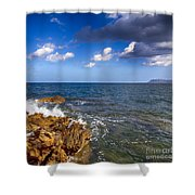 Crete Landscape Shower Curtain