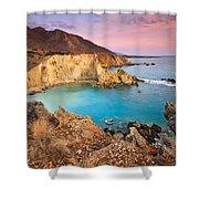 Cretan Coastline. Shower Curtain