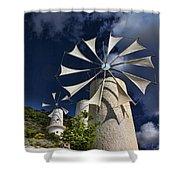 Creton Windmills Shower Curtain