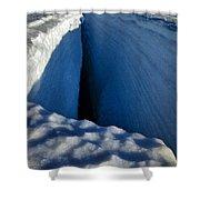 Crevasse Shower Curtain