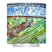 Cricket-day Shower Curtain