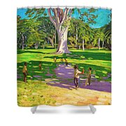Cricket Match St George Granada Shower Curtain by Andrew Macara