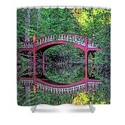 Crim Dell Bridge In Summer Shower Curtain