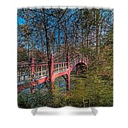 Crim Dell Bridge Spring Shower Curtain