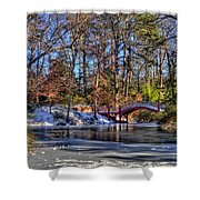 Crim Dell In Winter William And Mary Shower Curtain