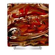 Crimson And Gray Glass Macro Ws6 Shower Curtain