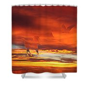 Crimson Fever Shower Curtain