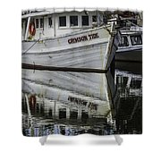 Crimson Tide And Reflection Shower Curtain