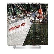 Crimson Tide Bow Shower Curtain by Michael Thomas