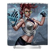 Crimson Viper Shower Curtain