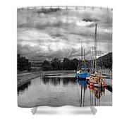 Crinan Canal Scotland Shower Curtain