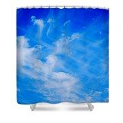 Cris Cross Clouds IIi Shower Curtain