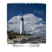 Crisp Point Lighthouse 15 Shower Curtain