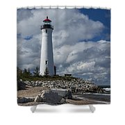 Crisp Point Lighthouse 16 Shower Curtain