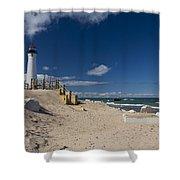 Crisp Point Lighthouse 17 Shower Curtain